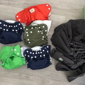 Other - 10  charcoal inserts and 5 covers cloth diapers